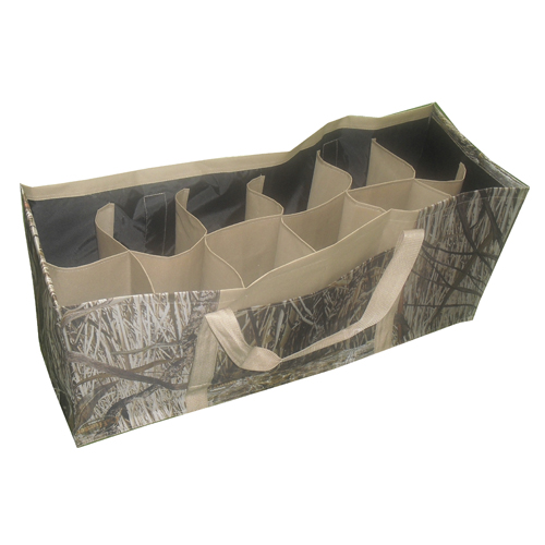12 Slotted Camo Hunting Decoy Bag