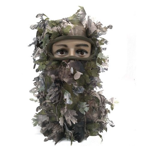 3D Leafy Camouflage Face Mask