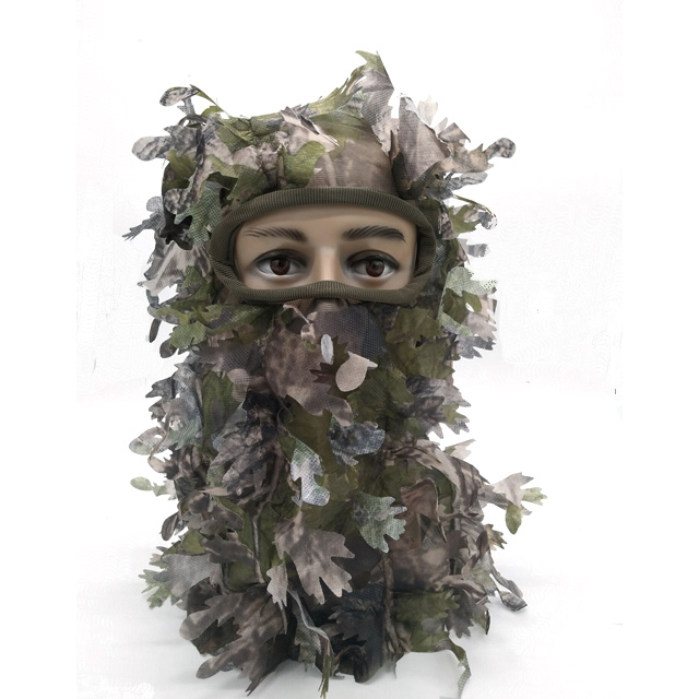 High Quality 3D Leafy Camouflage Face Mask