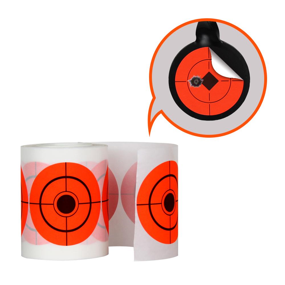 Orange 3inch Shooting Sticker Targets