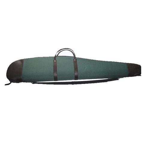 Scoped Rifle Case with Leather Trim
