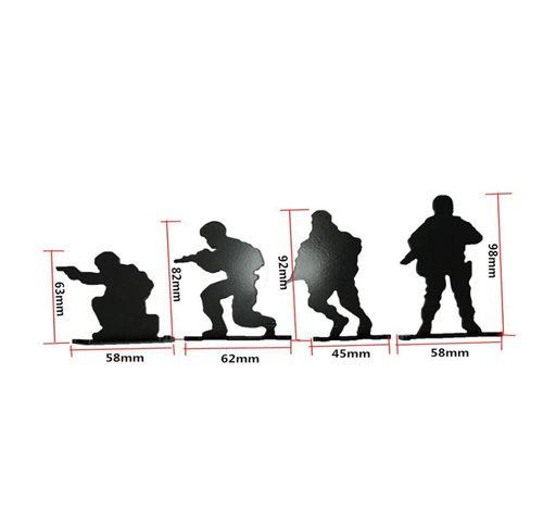 4PCS Steel Soldier Shooting Target