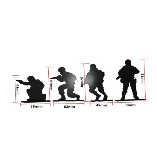 4PCS Steel Soldier Shooting Target