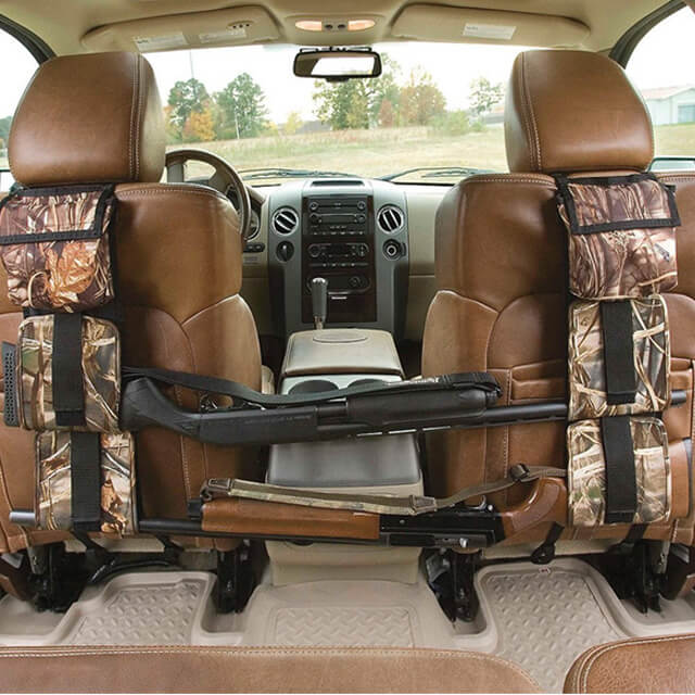 Car Seat Back Rifle Rack Case Hunting Gun Holsters Organizer With Pockets
