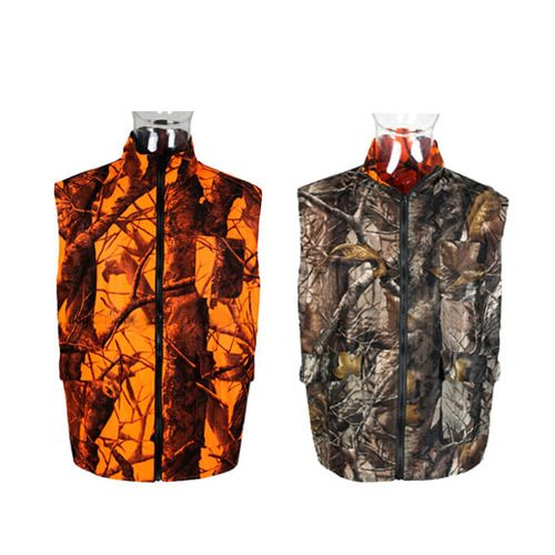 Double-sided camouflage waterproof hunting vest