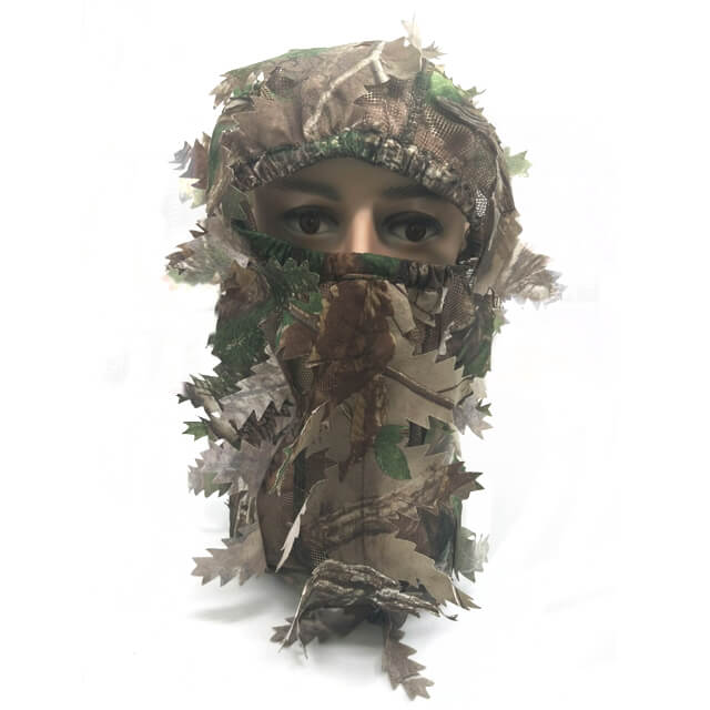 Hunting Camouflage Full Cover 3D Leafy Face Mask