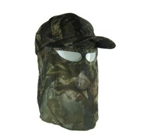 Hunting Camouflage Hat with Face Mask Combination